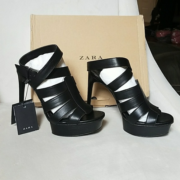 0457e689a567 New in Box Ankle Strap heels by Zara
